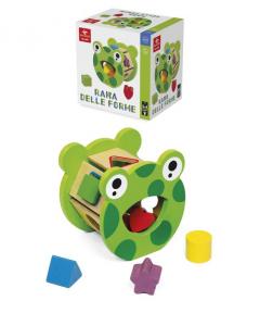 DAL NEGRO Rana Delle Forme Puzzle Incastro Prima Infanzia Giocattolo 884
