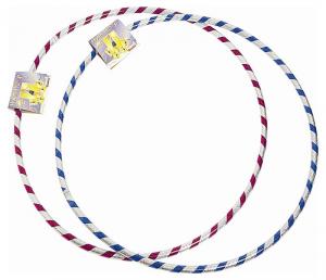 ANDRONI Cerchio Ginnico Hula Hoop Olografico Diametro 80 Cm Rosa/Azzurro 199