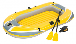 BEST WAY Set Canotto Hydro Force Raft Misura Gonfio Cm 228X121X36, 2 Adulti Max 722