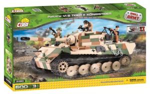 COBI 600 Pcs Small Army /2480/ Pezzi Kpfw Vi Tiger Ii Costruzioni Piccole Gioco 118