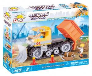COBI 250 Pcs Action Town 1673 Bulldozer Scavatore Costruzioni Piccole Gioco 849