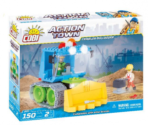COBI 150 Pcs Action Town 1672 Crawler Bulldozer Costruzioni Piccole Gioco 946