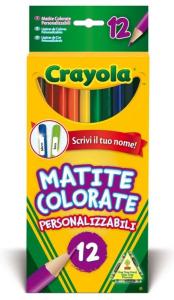 CRAYOLA 12 Matite Colorate Personalizzabili Pastelli A Matita Gioco Disegno 622