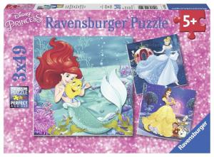 RAVENSBURGER Puzzle 3X49 Pezzi Principesse Disney B Puzzle Giocattolo 597
