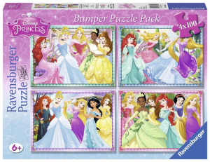 RAVENSBURGER Puzzle 4X100 Bumper Pack Principesse Disney 221