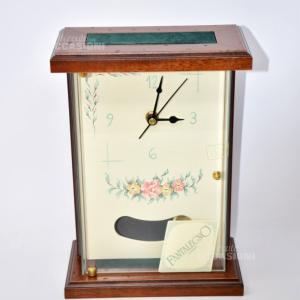 Orologio Pendolo Con Disegno   In Legno