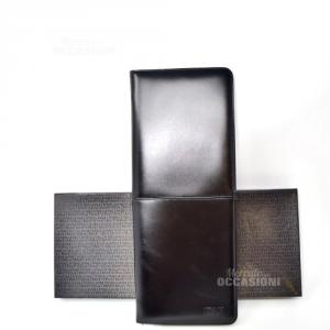 Porta Cravatte Gianni Versace  Nero In Vera Pelle