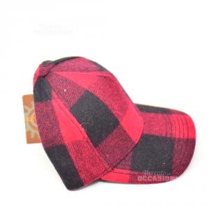 Cappello Lana Rosso Nero NERO