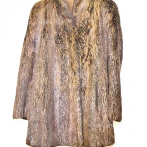 Pelliccia Vero Pelo Marmotta  Tg L