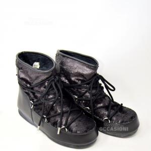 Doposci Pailettes Nero  N. 41 Moon Boot