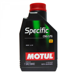OLIO MOTORE MOTUL SPECIFIC CNG/LPG 100% SINTETICO SAE 5W40 1L