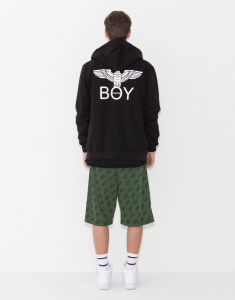 GIACCA FELPA BOY LONDON NERA CAPP M/L +STAMP BLU5003