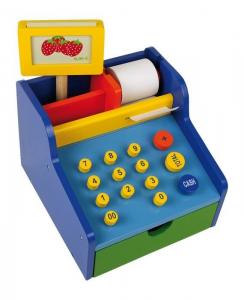 Cassa professionale in legno negozi-bancarella gioco per bambini-2