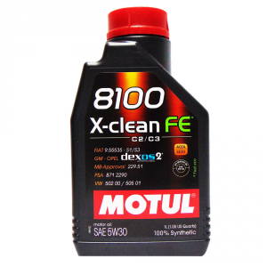 OLIO MOTORE MOTUL 8100 X-CLEAN FE SAE 5W30 100% SINTETICO 1L