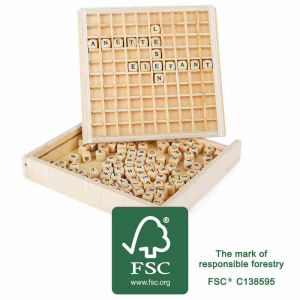 Paroliere Telaio sistemare le parole in legno gioco didattico FSC 100%-2