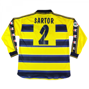 2000-01 Parma Maglia Home  #2 Sartor MATCH WORN XL  (Top)