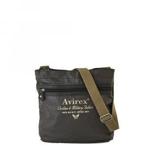 Avirex - Alifax - Borsa a tracolla unisex in canvas 1 scomparto marrone cod. A6