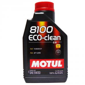 OLIO MOTORE MOTUL 8100 ECO-CLEAN SAE 5W30 100% SINTETICO 1L
