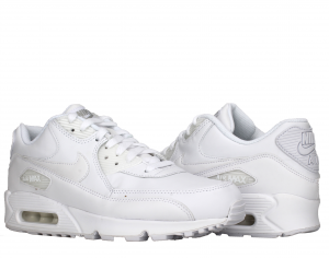 SNEAKERS AIR MAX 90 LEATHER 302519-113 TRUE WHITE