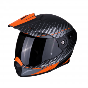 CASCO MOTO MODULARE SCORPION ADX-1 DUAL BLACK ORANGE