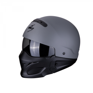 CASCO MOTO INTEGRALE/JET SCORPION EXO-COMBAT SOLID CEMENT GREY