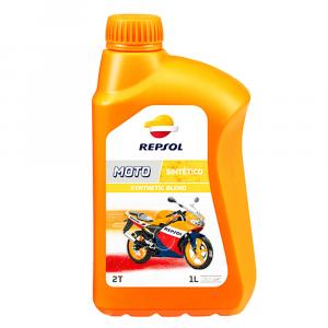 OLIO MOTORE REPSOL MOTO 2T SYNTHETIC BLEND 1L