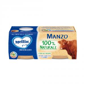 MELLIN 12 Confezioni cibi omogeneizzati carne pesce manzo 80gr 2 pezzi