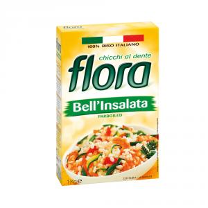 FLORA 10 Confezioni riso parboiled bellinsalata 1kg chicchi al dente