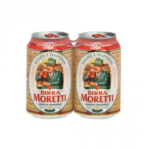 BIRRA MORETTI 12 Confezioni birra lattina 330ml 2 pezzi