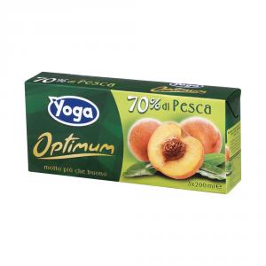 YOGA 8 Confezioni nettari di frutta brik pesca 200ml 3 pezzi