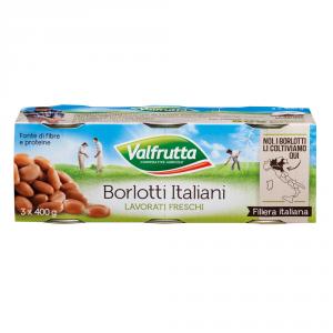 VALFRUTTA 8 Confezioni fagioli in scatola borlotti 3 pezzi