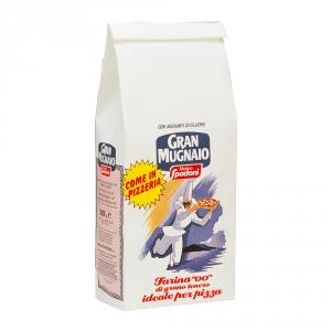 GRAN MUGNAIO 10 Confezioni farina di grano tenero duro per pizza tipo 00 1kg