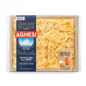 AGNESI 12 Confezioni pasta uovo tagliatelle festaiola fettuccine n225 250gr