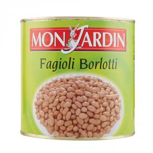 MON JARDIN 6 Confezioni fagioli in scatola borlotti mon jardin gr2600