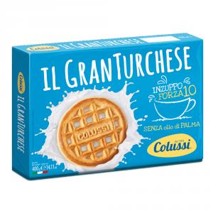 COLUSSI 12 Confezioni biscotti frollini gran turchese 400gr senza olio di palma