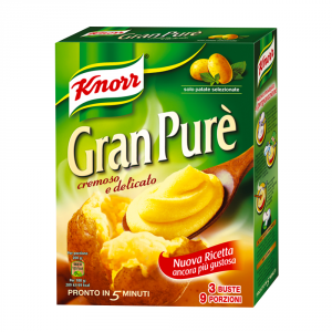 KNORR 14 Confezioni preparati per purea gnocchi gran pure 225gr