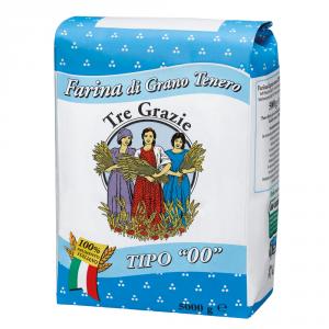 Tre Grazie 2 Confezioni farina di grano tenero duro tipo 00 5kg
