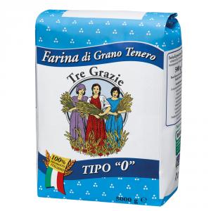 Tre Grazie 2 Confezioni farina di grano tenero duro tipo 0 5kg