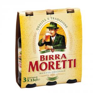 BIRRA MORETTI 8 Confezioni birra 330ml 3 pezzi