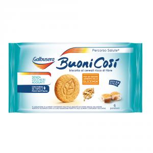 GALBUSERA 10 Confezioni biscotti integrali buoni cosi senza zuccheri agguinti 300gr