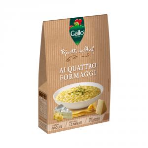GALLO 6 Confezioni riso condito risotto con quattro formaggi 175gr