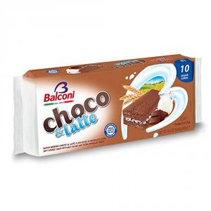 BALCONI 15 Confezioni merendine choco & latte 300gr 10 pezzi