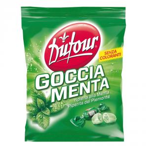 DUFOUR 9 Confezioni caramelle in busta con zucchero dufour gocce menta 200gr