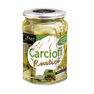 CITRES 12 Confezioni ortaggi sottoli carciofini rustici 580ml