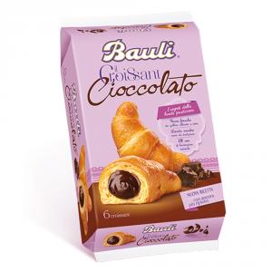 BAULI 6 Confezioni merendine croissant con cacao 300gr 6 pezzi