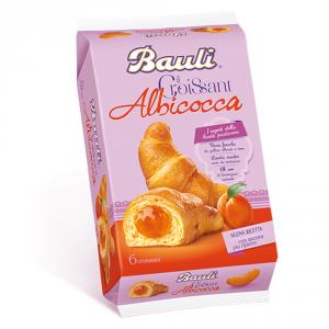 BAULI 6 Confezioni merendine croissant all albicocca 240gr 6 pezzi