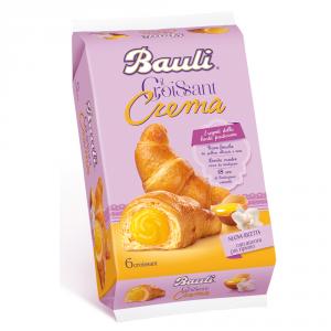 BAULI 6 Confezioni merendine croissant con crema 300gr 6 pezzi