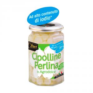 CITRES 12 Confezioni ortaggi in agrodolce cipolline 314ml con iodio