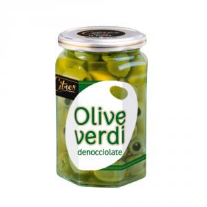 CITRES 12 Confezioni olive confezionate verdi snocciolate 314ml