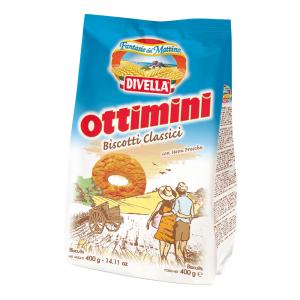 DIVELLA 18 Confezioni biscotti frollini ottimini classici 400gr